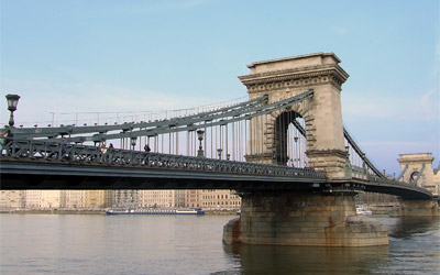 Chain Bridge was the first permanent stone-bridge connecting Pest and Buda