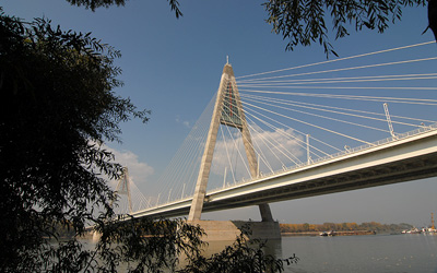 Megyeri Bridge is the longest bridge of Budapest