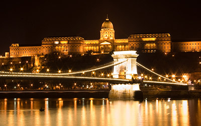 The Buda Castle and the Chain Bridge at night
